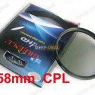 58mm Circular Polarizing C-PL PL-CIR CPL Filter 58CPL