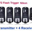 pixel TF372 Wireless Flash Trigger nikon with 4 Receiver SB900 SB800 SB600 SB400