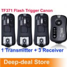 TF-371 Wireless Flash Trigger for Canon SpeedLite with 3 Receiver FlashGun