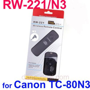RW-221 N3 Wireless Shutter Release Remote Canon 5D Mark� 7D 5D 1Ds TC-80N3