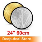 "24"" 60cm Reflector Gold Silver 2 in 1 Collapsibl​e disc Reflector"