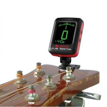 Joyo JT-12B Clip On Digital Tuner for Guitar Bass Violin and Ukulele