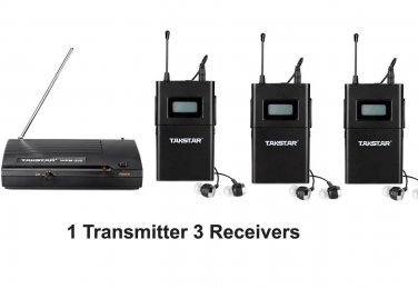 wpm-200 WPM-100 Wireless Monitor System In-Ear Sterem 1 Transmitter 3 Receivers