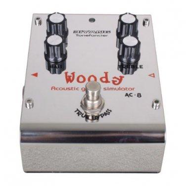 Biyang Guitar Effect Pedal Acoustic Guitar Simulator Woody AC-8 True Bypass
