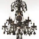 Maria Theresa Black 12 Light Chandelier 28x30  BLOWOUT