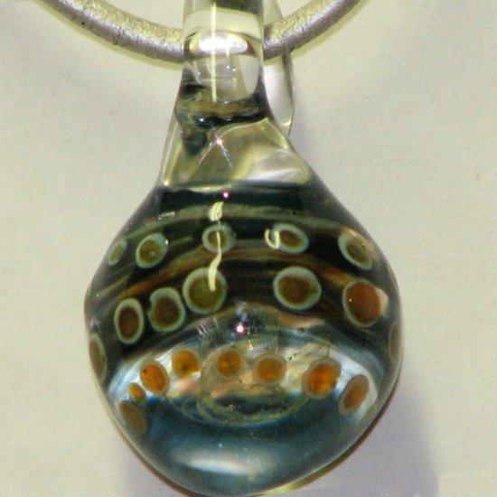 Hidden Tornado - handmade glass pendant