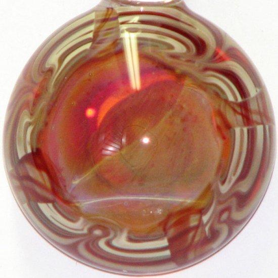 Baby Saurons Eye - handmade glass pendant