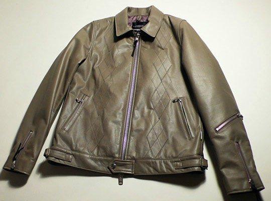 Argyle Mens leather coat