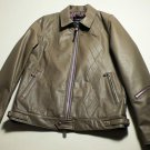 Argyle Mens leather coat