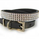 Diamond studded dog collar