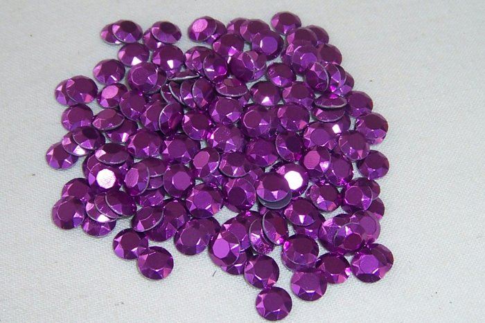 5mm HotFix Rhinestuds Amethyst 1gross(144pcs)
