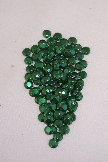 5mm Hot Fix Rhinestuds Green 1gross(144pcs)