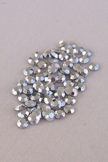 3mm Hot Fix Rhinestuds  Silver 1gross(144pcs)