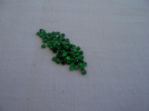 10ss (3mm) Hot Fix Rhinestones Green 1gross (144pcs)