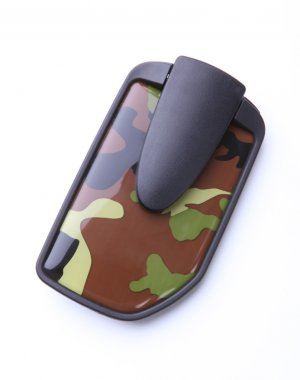 Safepocket Men's Camouflage Compact Wallet Money Clip