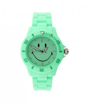 "Wave Gear Smiley ""Happy Time"" Women's WGS-PPGV01 Pretty Pastel Green Analogue Watch"