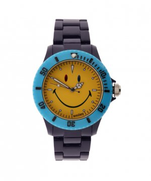 "Wave Gear Smiley ""Happy Time"" Men's WGS-CBBV01 Color Block Blue and Yellow Analogue Watch"