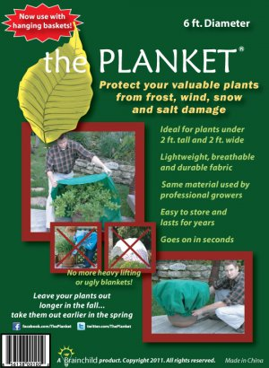The Planket Plant Frost Protection Cover (6 ft Round)