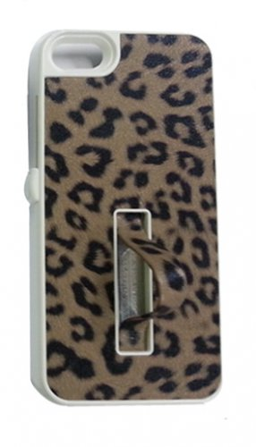 Pushring iPhone 5 Leather Phone Case, Leopard Brown