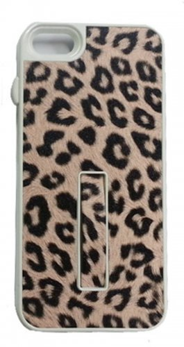 Pushring iPhone 5 Leather Phone Case, Leopard  Pink