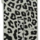 Pushring iPhone 5 Leather Phone Case, Leopard  White