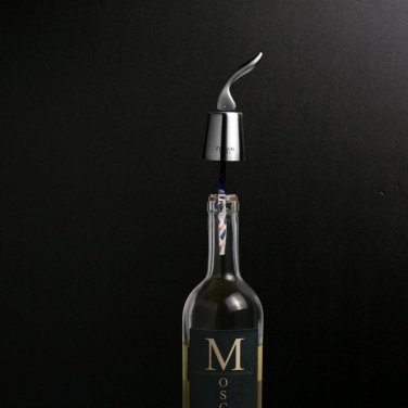 FlaVin Oxygen Neutralizing Wine Preservation System - Stainless Steel Stopper and 10 OxyGone Strips