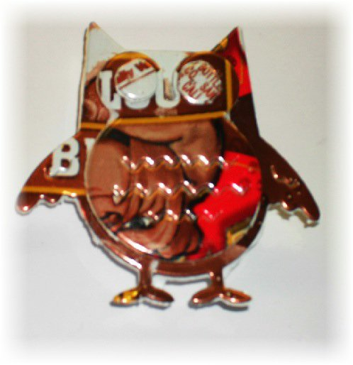 Soda Can Owl Magnet