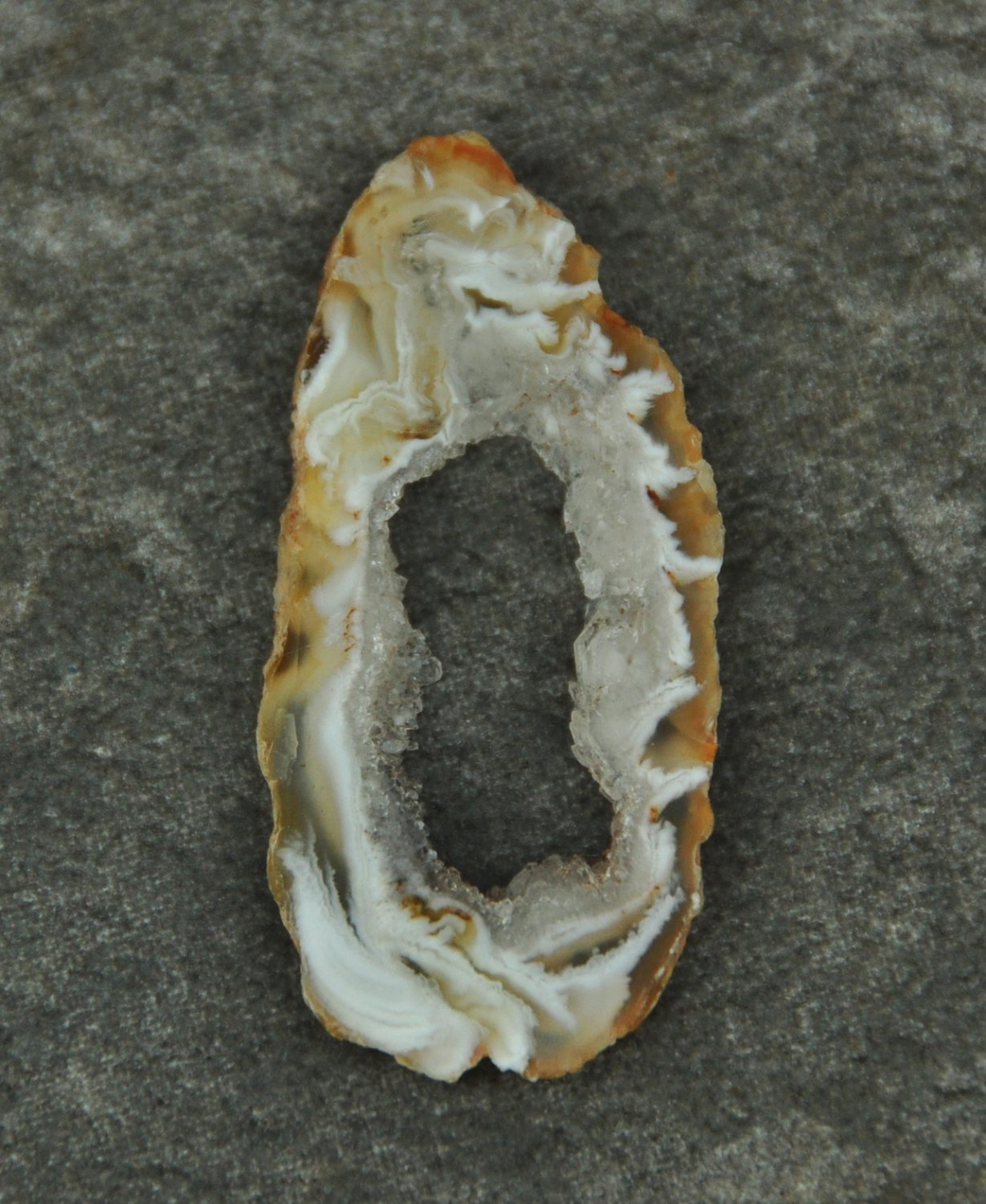 Small Druzy Agate Geode Slice #3 Undrilled for Jewelry Wire Wrap