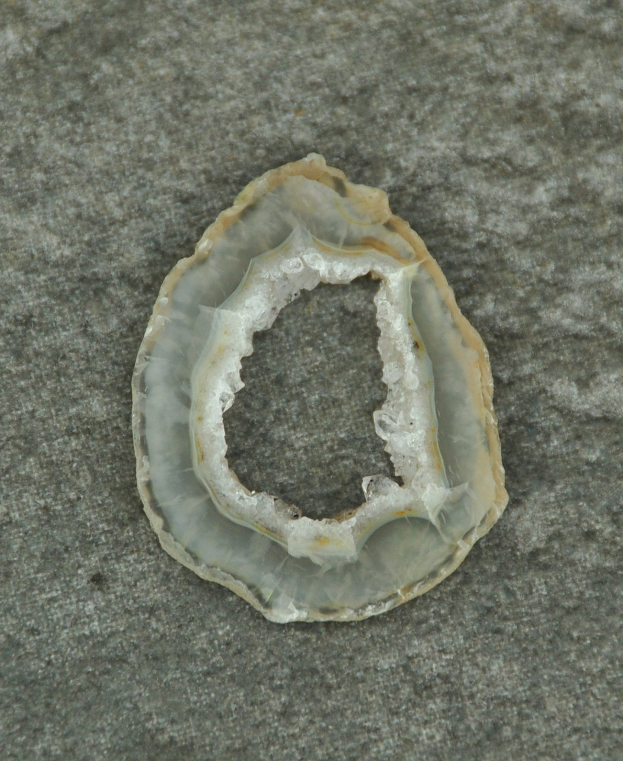 Small Druzy Agate Geode Slice #5 Undrilled for Jewelry Wire Wrap