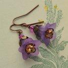 Flower Earrings - Purple