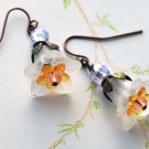 Fairy Flower Drop Earrings-White