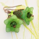 St Patty's Day Flower Earrings - Celtic Green