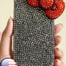 3D Iphone 4s 4g 4 Bling Crystal Red Bow Hard Case Verizon4 at&t