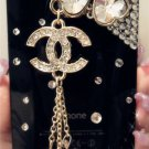 New 3D Iphone 4s 4 Bling Crystal Black CoCo Logo black Hard back case Verizon 4