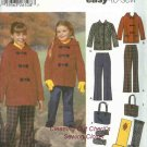 PANTS JACKET SCARF MITTENS Child 7-14 Sewing Pattern 5863