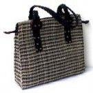 Square Braided Abaca Bag
