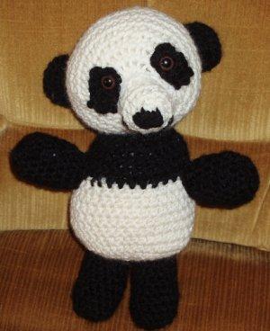 CLEARANCE ! Panda Bear crocheted plush toy