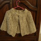 Handmade cape shawl capelet crocheted wool