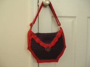 CLEARANCE! Purse handbag messenger bag tote crochet adjustable strap