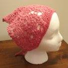 Head Scarf heirloom pattern crocheted pink