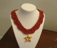 Necklace with star fish pendant