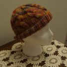 Hat knit child's autumn colors