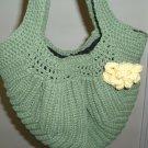 Lined Purse Wide Bottom Cotton Tote Handbag