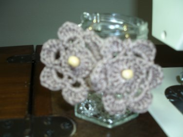 Beaded Crocheted Earrings,gold Ear Wire