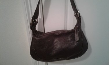 G. H. Bass 100% leather underarm hobo shoulder purse lined