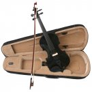 Black Acoustic Violin Full Size 4/4 + Bow + Case + Rosin