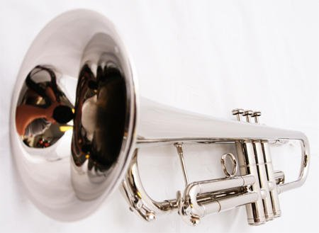 Nickel Trumpet Bb Band Approved + Case + Soft White Gloves