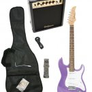Purple Electric Guitar + 15w Amp + Gig Bag + Cord + Whammy Bar + Strap + Picks