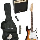 Sunburst Electric Guitar + 15w Amp + Gig Bag + Cord + Whammy Bar + Strap + Picks
