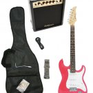 Pink Electric Guitar + 15w Amp + Gig Bag + Cord + Whammy Bar + Strap + Picks